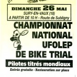 Sury en Vaux reçoit le National de BikeTrial ce weekend