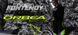 Aurélien Fontenoy, Enduro / Trials in the snow on Orbea